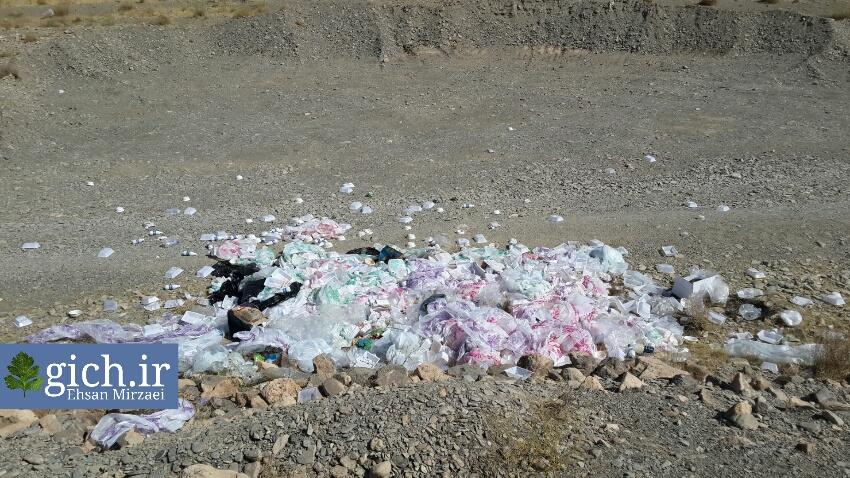 تخلیه-زباله-نذری-در-بستر-رودخانه-روستای-گیلی-محرم۱۳۹۵-اراک-گیچ