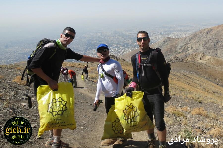 کوهنوردان حامی محیط زیست ارتفاعات تهران شکار لحظه توسط خانم پروشاد مرادی، از دوستداران محیطزیست، توچال، مرداد۱۳۹۵