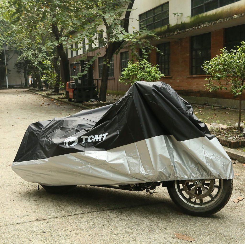 چادر برای موتور سیکلت، شاید استتار موتور سارق را منصرف کند.