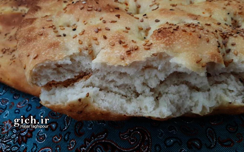 آموزش پخت نان بربری خانگی با هاجر تقی پور مجله گیچ