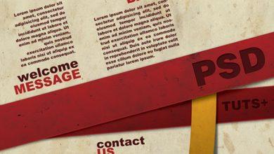 آموزش گام به گام و تصویری طراحی بروشور سه لتی در فتوشاپ مجله گیچ