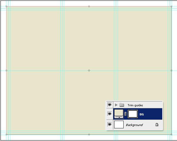12- ایجاد گروه برای خطوط اصلاح - آموزش طراحی بروشور سه لتی در فتوشاپ مجله گیچ