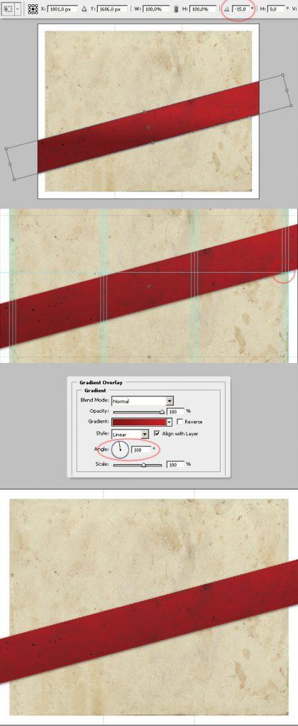 16- چرخش نوار - آموزش طراحی بروشور سه لتی در فتوشاپ مجله گیچ