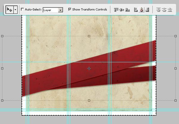 18-1- تراز وسط برای نوار ها - آموزش طراحی بروشور سه لتی در فتوشاپ مجله گیچ