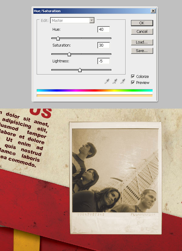 32- ترکیب لایه ها - آموزش طراحی بروشور سه لتی در فتوشاپ مجله گیچ