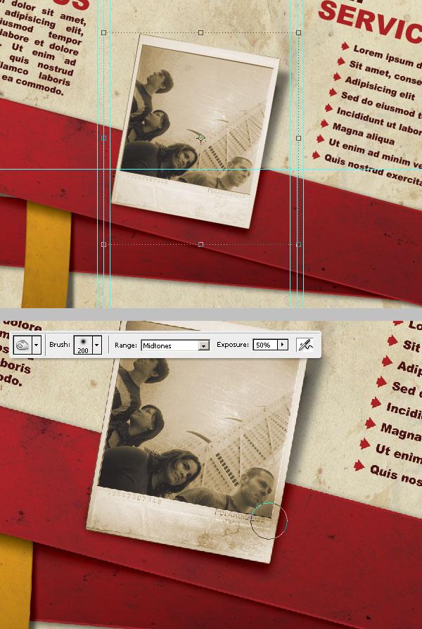 34- ویرایش نهایی عکس - آموزش طراحی بروشور سه لتی در فتوشاپ مجله گیچ
