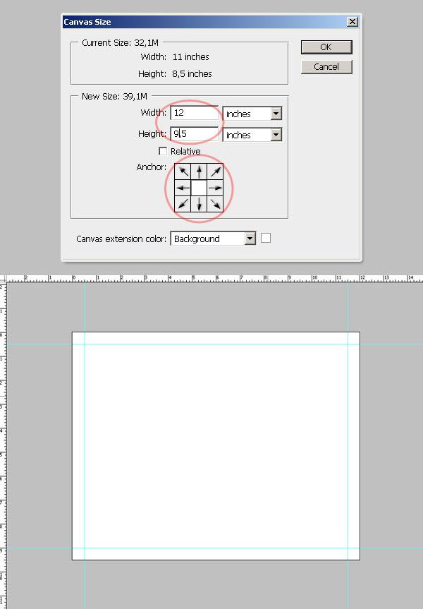 5- افزایش یک اینچ - آموزش طراحی بروشور سه لتی در فتوشاپ مجله گیچ