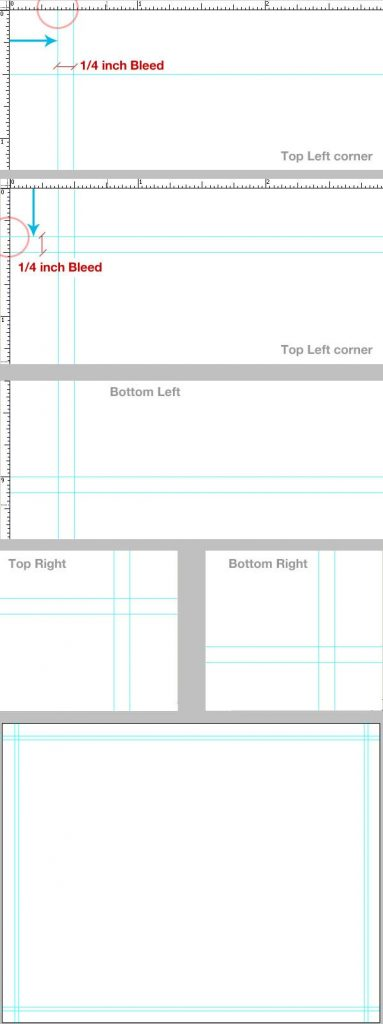 6- تنظیم خط راهنما - آموزش طراحی بروشور سه لتی در فتوشاپ مجله گیچ