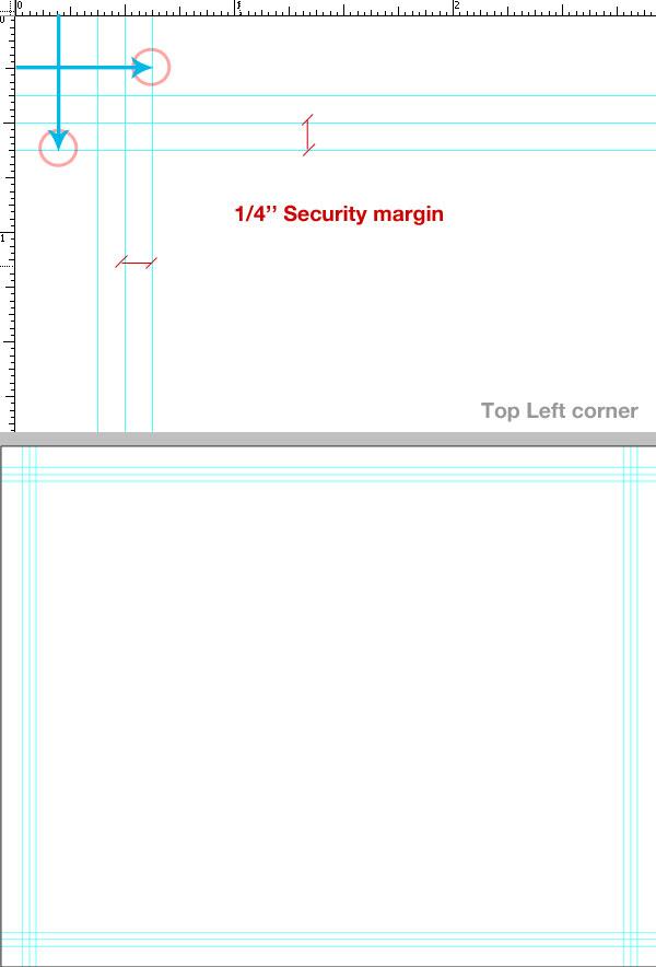 7- تعیین حاشیه امن - آموزش طراحی بروشور سه لتی در فتوشاپ مجله گیچ