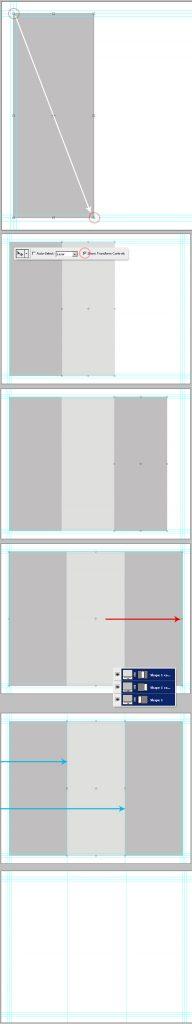 8- تعیین راهنمای ستون ها -آموزش طراحی بروشور سه لتی در فتوشاپ مجله گیچ